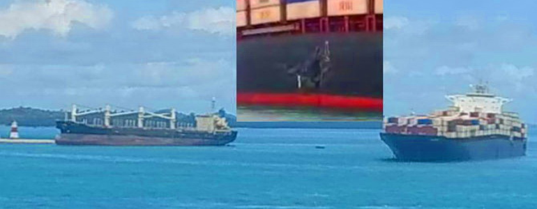 V Singapurski ožini nasedli dve ladji
