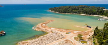 Costruzione del porto Settentrionale di Valdibora