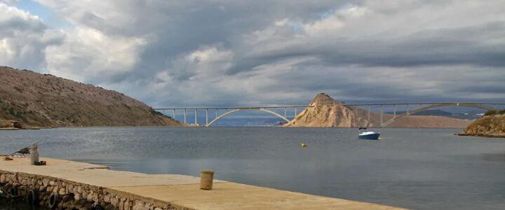 Cestnina, most Krk