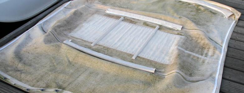Bimini, spray hood, platnena streha - čiščenje