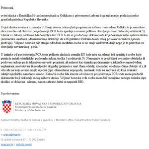 Prehod meje s Hrvaško in vračanje v Slovenijo